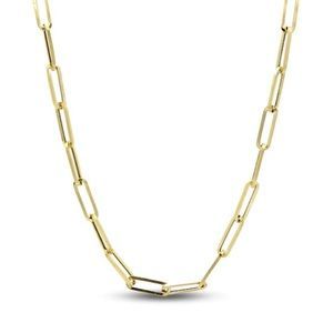 Solid 10k gold paperclip chain
